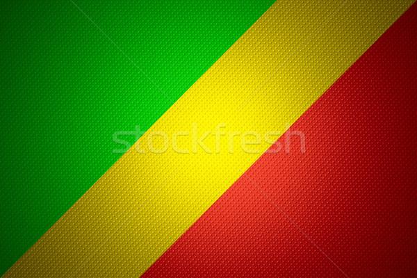Bayrak Kongo afiş soyut doku Stok fotoğraf © MiroNovak