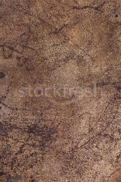 Brązowy rdzy metal szorstki wzór tekstury Zdjęcia stock © MiroNovak