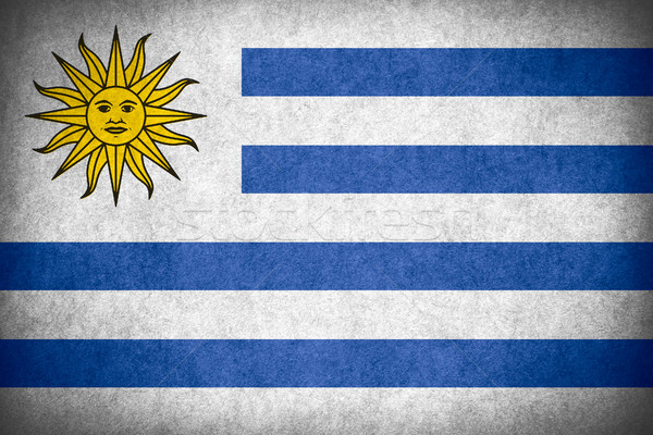 Bandeira Uruguai bandeira papel áspero padrão Foto stock © MiroNovak