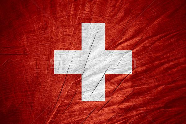 Bandeira Suíça bandeira textura Foto stock © MiroNovak