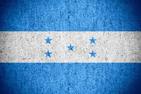 Bandeira Honduras bandeira áspero padrão textura Foto stock © MiroNovak