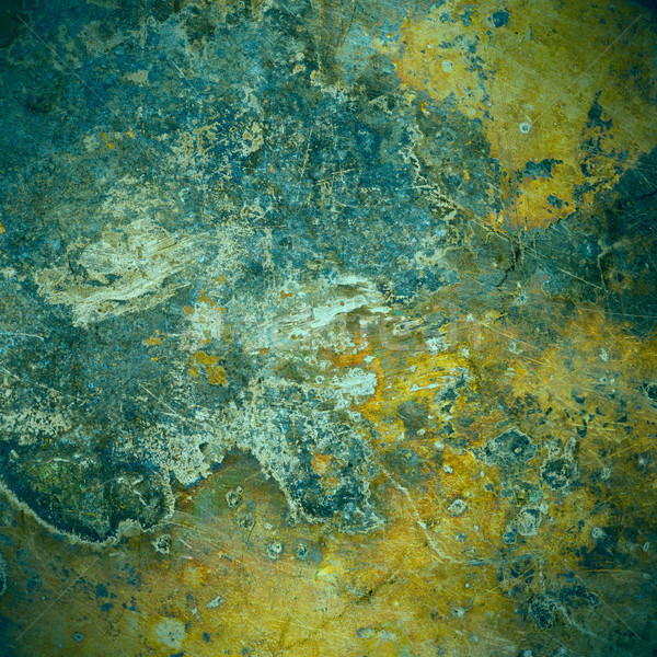 brown and green old rust metal plate background Stock photo © MiroNovak