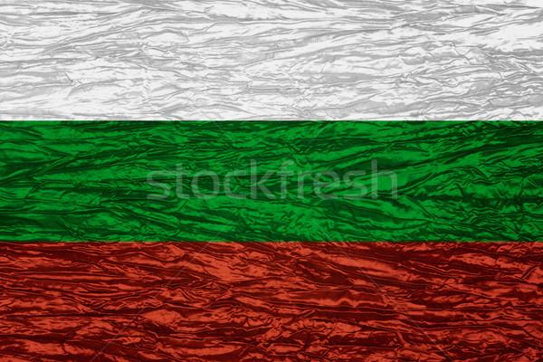 Zászló Bulgária szalag vászon textúra Stock fotó © MiroNovak