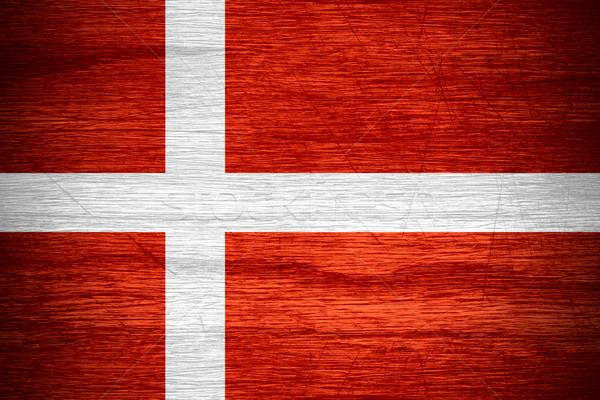 Bandera Dinamarca banner textura Foto stock © MiroNovak