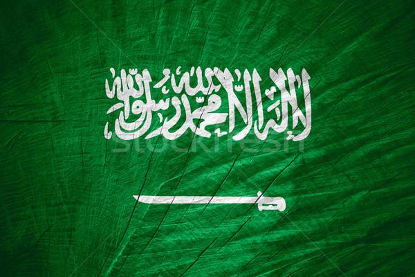 Vlag Saoedi-Arabië banner houten textuur Stockfoto © MiroNovak