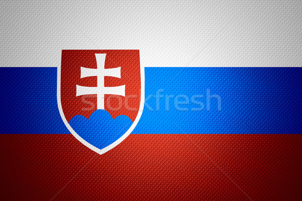 Bayrak Slovakya afiş soyut doku Stok fotoğraf © MiroNovak