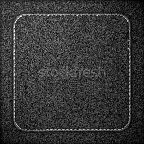 Fekete bőr szemcsés szürke textúra háttér Stock fotó © MiroNovak