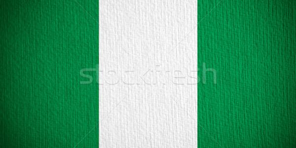 Bandeira Nigéria bandeira papel textura Foto stock © MiroNovak