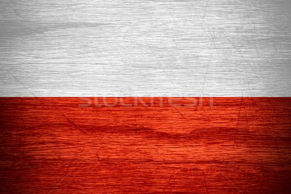 Bandeira Polônia bandeira textura Foto stock © MiroNovak