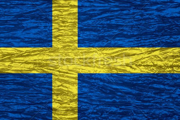 Bandeira Suécia bandeira lona textura Foto stock © MiroNovak