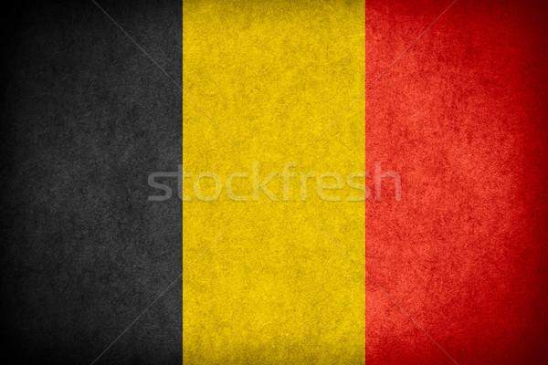 Bandeira Bélgica bandeira papel áspero padrão Foto stock © MiroNovak