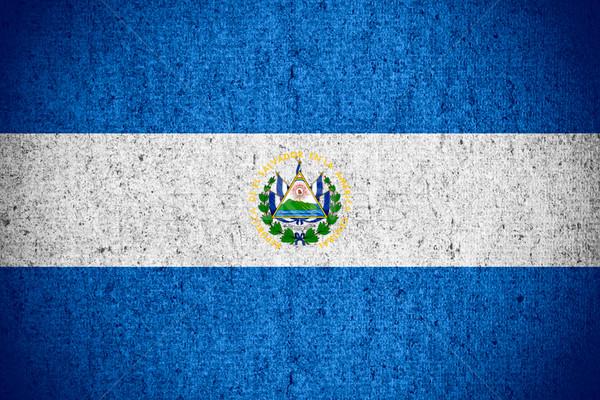 Zászló El Salvador szalag durva minta textúra Stock fotó © MiroNovak