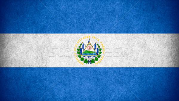 Bandeira El Salvador bandeira papel áspero padrão Foto stock © MiroNovak