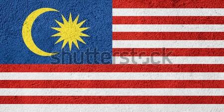 Zászló Malajzia szalag papír textúra Stock fotó © MiroNovak