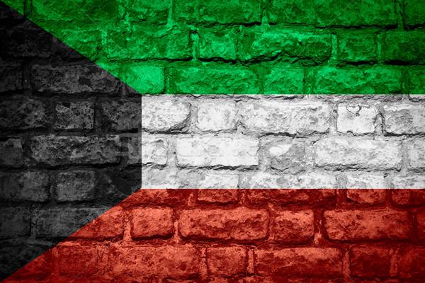 флаг Кувейт баннер кирпичных текстуры Сток-фото © MiroNovak