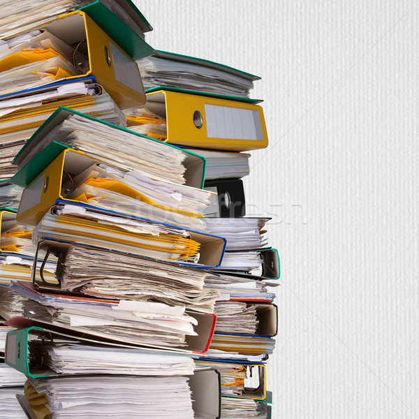 piles of file binder with documents  Stock photo © MiroNovak