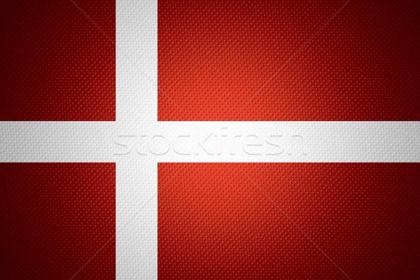 Zászló Dánia szalag absztrakt textúra Stock fotó © MiroNovak