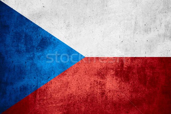 Zászló Csehország cseh szalag durva minta Stock fotó © MiroNovak