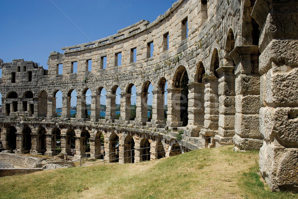 Ancient amphitheatre in Pula Stock photo © MiroNovak