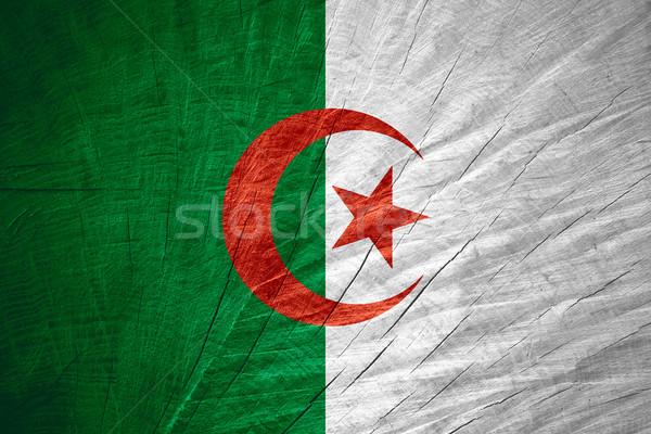 Bandeira Argélia bandeira textura Foto stock © MiroNovak