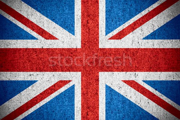 Pavillon Royaume-Uni britannique bannière rêche modèle Photo stock © MiroNovak
