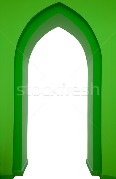 Zöld gótikus porta izolált fehér terv Stock fotó © MiroNovak