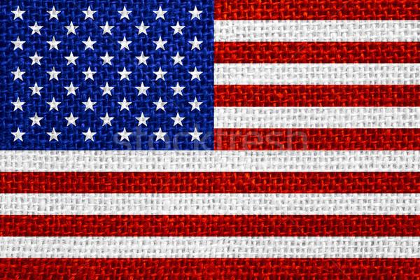 Zászló Egyesült Államok Amerika amerikai szalag vászon Stock fotó © MiroNovak