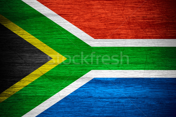 Republic of South Africa flag Stock photo © MiroNovak