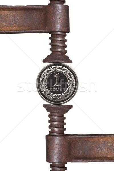 one zloty coin Stock photo © MiroNovak