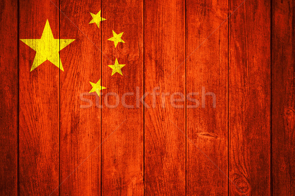 China vlag republiek Rood Geel chinese Stockfoto © MiroNovak