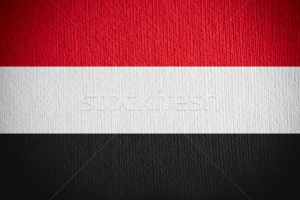 Zászló Jemen szalag papír Stock fotó © MiroNovak