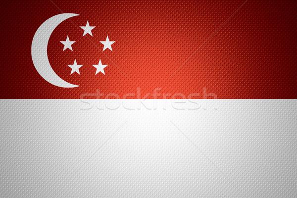 Bandiera Singapore banner abstract texture Foto d'archivio © MiroNovak