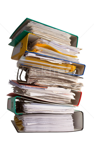 The pile of file binder with papers Stock photo © MiroNovak