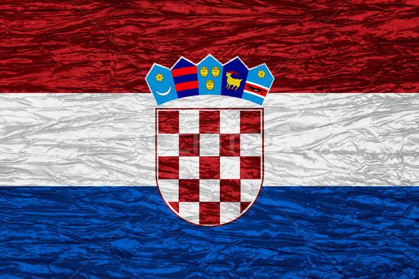 Bandera Croacia banner lienzo textura Foto stock © MiroNovak