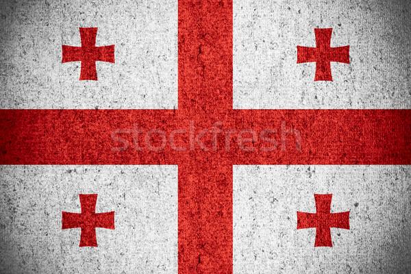 флаг Грузия баннер грубо шаблон текстуры Сток-фото © MiroNovak