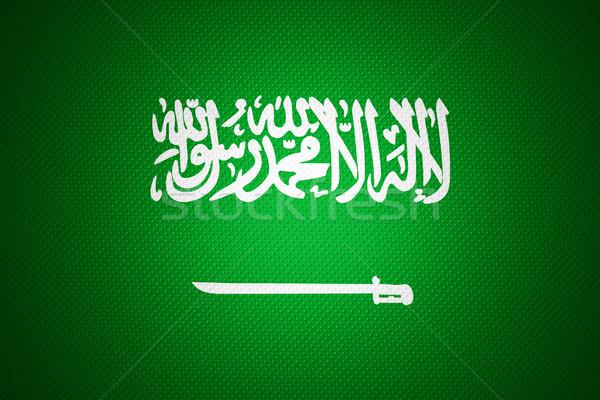 Zászló Szaúd-Arábia szalag absztrakt textúra Stock fotó © MiroNovak