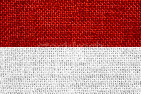 Bayrak Endonezya endonezya afiş doku Stok fotoğraf © MiroNovak