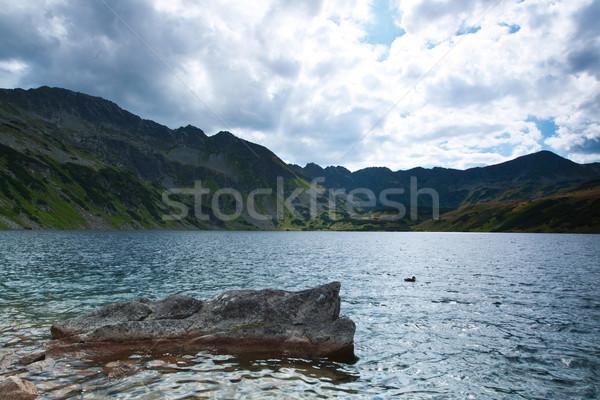 beautiful landscape of mountain lake Stock photo © MiroNovak