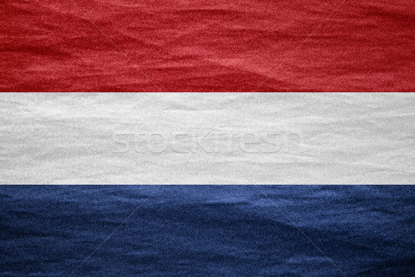 Vlag holland nederlands doek ruw patroon Stockfoto © MiroNovak