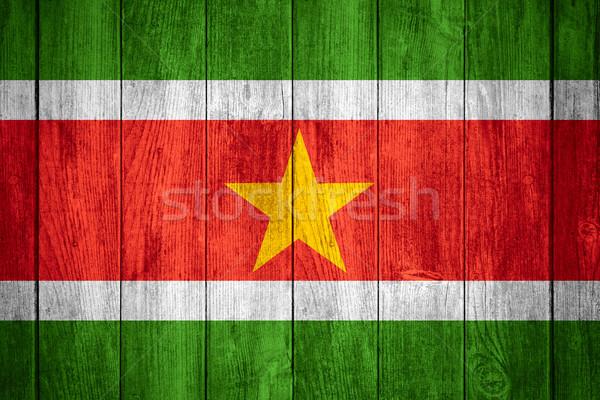 флаг Суринам баннер Сток-фото © MiroNovak