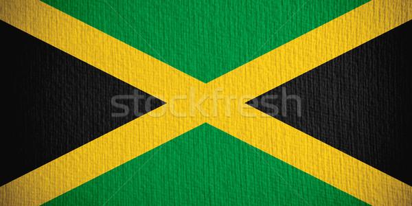 Vlag Jamaica banner papier textuur Stockfoto © MiroNovak
