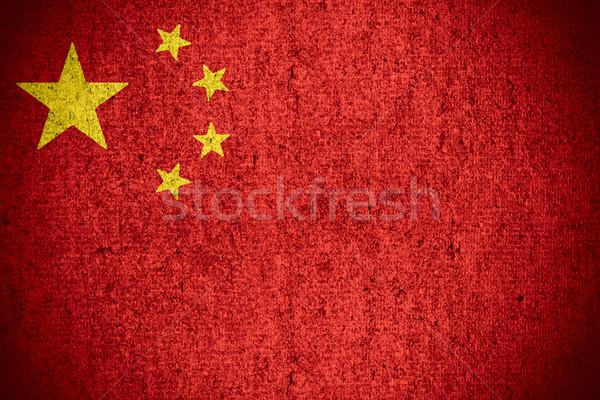 Bandeira China chinês bandeira áspero padrão Foto stock © MiroNovak