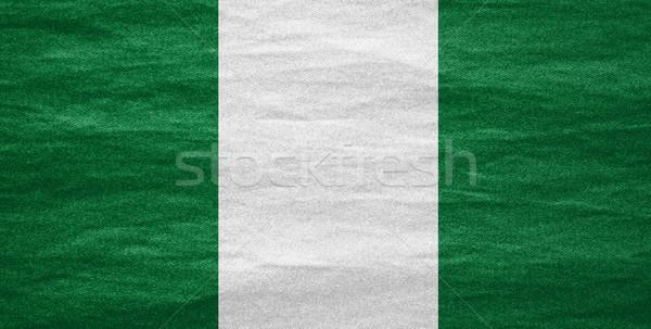 Bandeira Nigéria bandeira lona textura fundo Foto stock © MiroNovak