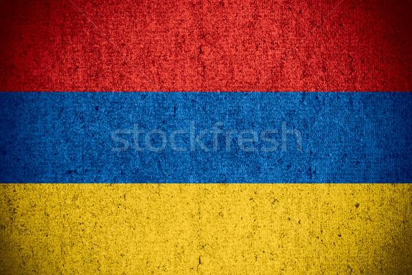 Zászló Örményország szalag durva minta textúra Stock fotó © MiroNovak