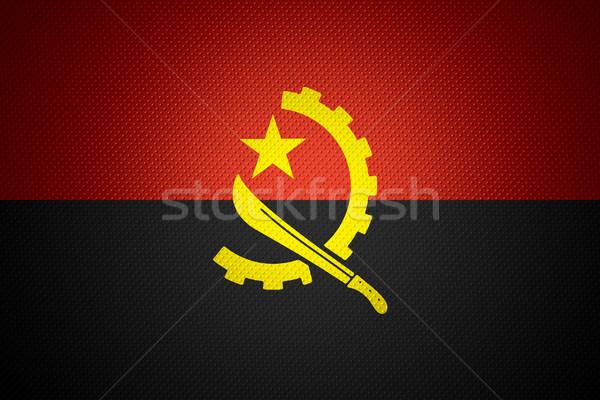 Bayrak Tiftik dokuma afiş soyut doku Stok fotoğraf © MiroNovak