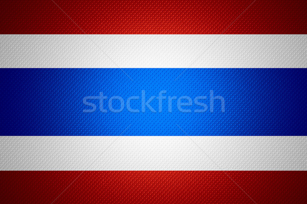 Vlag Thailand thai banner abstract textuur Stockfoto © MiroNovak