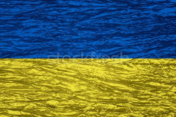 Bandeira Ucrânia bandeira lona textura Foto stock © MiroNovak