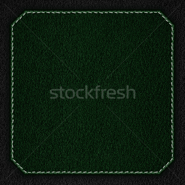 green leather background with white seam Stock photo © MiroNovak