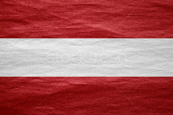Bandeira Áustria bandeira lona áspero padrão Foto stock © MiroNovak