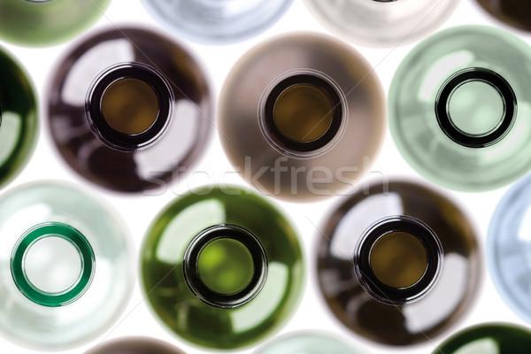 background made from empty wine bottles. Stock photo © MiroNovak